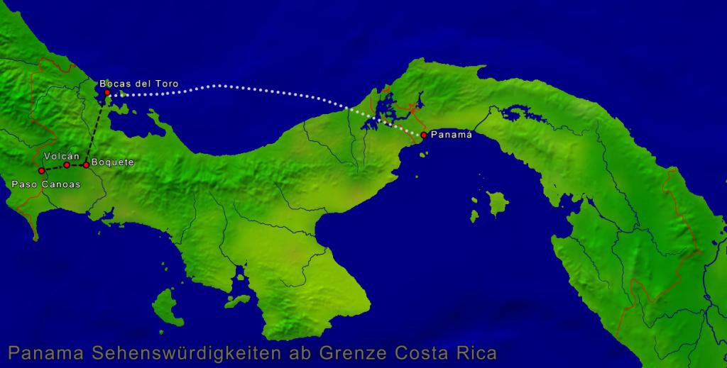 Costa Rica Karte Sehenswurdigkeiten.Individual Rundreise Panama Sehensw Uuml Rdigkeiten
